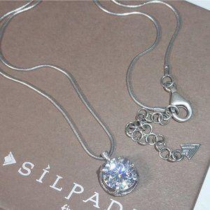 Silpada 925 Silver CZ Center Stage Necklace